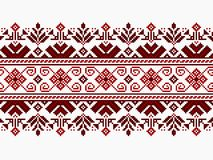 Vector illustration of ukrainian folk seamless pat Stock Images