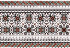Vector illustration of ukrainian folk seamless pat Royalty Free Stock Image