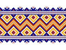 Vector illustration of ukrainian folk seamless pattern ornament. Royalty Free Stock Images