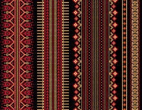Vector illustration of Ukrainian folk seamless pattern ornament. Ethnic ornament. Border element. Royalty Free Stock Image