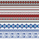 Vector illustration of Ukrainian folk seamless pattern ornament. Ethnic ornament. Border element. stock illustration
