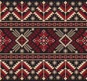 Vector illustration of Ukrainian folk seamless pattern ornament. Ethnic ornament. Border element. Traditional Ukrainian, Belarusian folk art knitted embroidery royalty free illustration