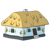 Vector illustration of Ukrainian hut image. Royalty Free Stock Photos