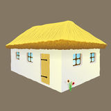 Vector illustration of Ukrainian hut image Royalty Free Stock Photos