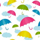 Vector Illustration.  Autumn umbrella stock illustration