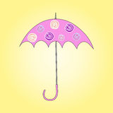 Vector illustration of umbrella. Vector illustration of opened multicolor umbrella Stock Photography