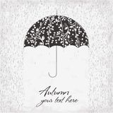 Vector illustration of umbrella under the rain Royalty Free Stock Photos