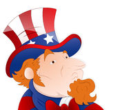 Vector Illustration of Uncle Sam Stock Photo