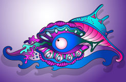 Vector illustration with underwater world Stock Photography