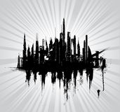 Vector illustration of urban skylines. Illustration Stock Photos