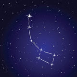Vector illustration of ursa minor constellation Stock Photo