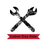 Vector illustration for USA labor Day, 4th september. American holiday conceptin trendy grunge style. Design template poster, bann Stock Photo