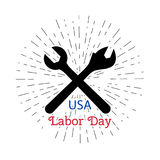 Vector illustration for USA labor Day, 4th september. Royalty Free Stock Photo