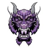 Dragon head. royalty free illustration