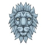 Lion head. stock illustration