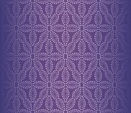 UV dotted flower textured wallpaper vector illustration