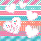 Vector illustration of valentine. Stock Image