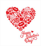 Vector illustration of valentine. Royalty Free Stock Photo