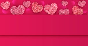 Vector illustration for Valentine`s Day. Background Stock Image