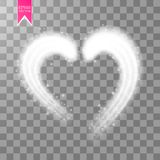 Shiny heart-shaped frame on transparent background. Holiday vector illustration. Vector Illustration of Valentine s day card for Design, Website, Banner. Shiny Royalty Free Stock Photo