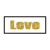 Vector illustration Valentine`s Day greeting card gold design with typography stock illustration
