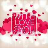 Vector illustration for Valentine`s Day. Hearts on Royalty Free Stock Photography