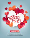 Vector illustration for Valentine`s Day. Hearts carved from  Royalty Free Stock Images