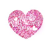 Vector illustration for Valentine`s Day. Pink heart Royalty Free Stock Photography