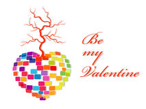 Vector illustration for Valentines Day. Royalty Free Stock Photo