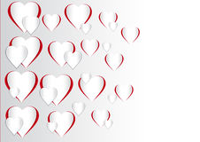 Vector Illustration of a Valentines Day Heart Shape Stock Image