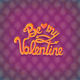 Vector illustration. Valentines Day Party Poster Design. Template of invitation, flyer, poster or greeting card Royalty Free Stock Images