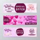 Vector illustration of valentines day sale background Royalty Free Stock Images