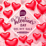 Vector illustration of valentines day sale background Stock Image