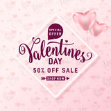 Vector illustration of valentines day sale background Stock Images