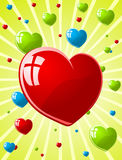 Vector illustration of valentines wallpaper Stock Images
