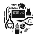 Vector illustration of vape service Stock Photos
