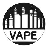 Vector illustration of vape Royalty Free Stock Image