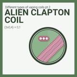 Vector illustration vaping coil. Part of big set. Alien clapton. Stock Photos
