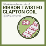 Vector illustration vaping coil. Part of big set. Ribbon twisted clapton. Stock Photography