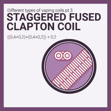 Vector illustration vaping coil. Part of big set. Staggered fused clapton. Royalty Free Stock Photography