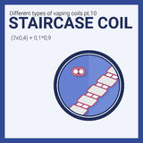Vector illustration vaping coil. Part of big set. Staircase. Royalty Free Stock Photos