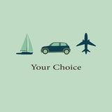 Vector illustration of variety of transport for travel Stock Images