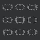 Vector illustration of various decorative frames Stock Photos