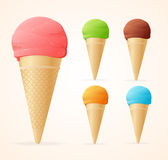 Vector illustration of various ice cream Royalty Free Stock Images