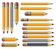Various vector pencils Stock Photos