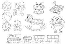 Vector Illustration of various Toys Stock Photos