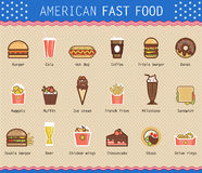 Vector illustration of various unhealthy american Stock Photography
