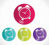 Vector clock icon set Stock Photo