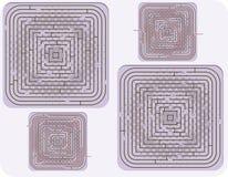 Vector illustration of vector maze Stock Photos