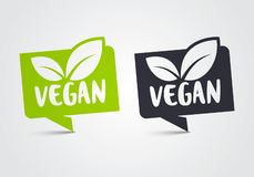 Free Vector Illustration Vegan Icon Set. Green Leaf Bio And Ecology, Organic Logo Label Tag Royalty Free Stock Image - 138131086